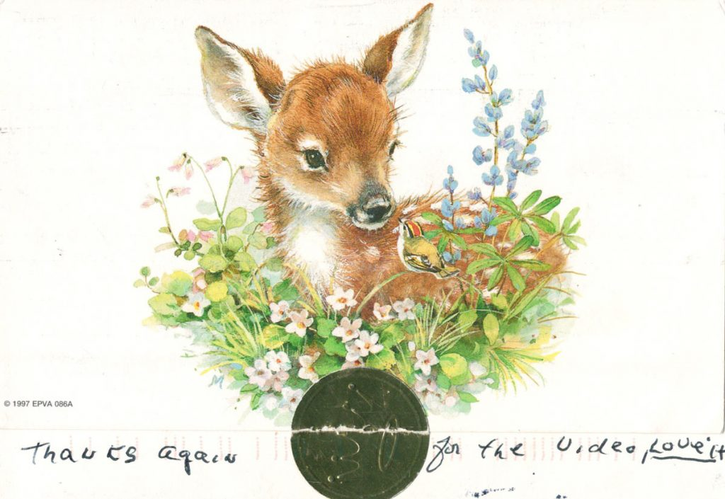 Letter Outside Deer Nana