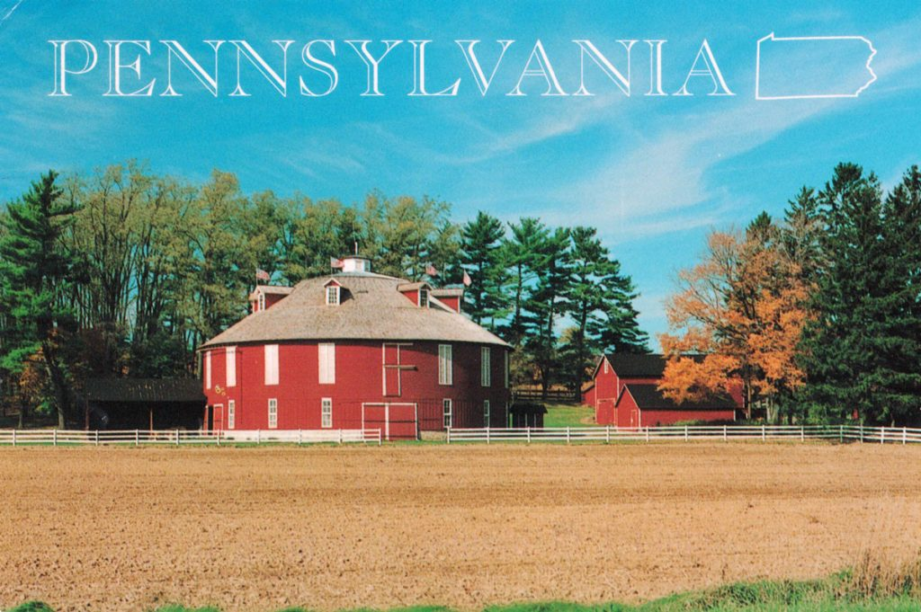 Round Barn Postcard Front