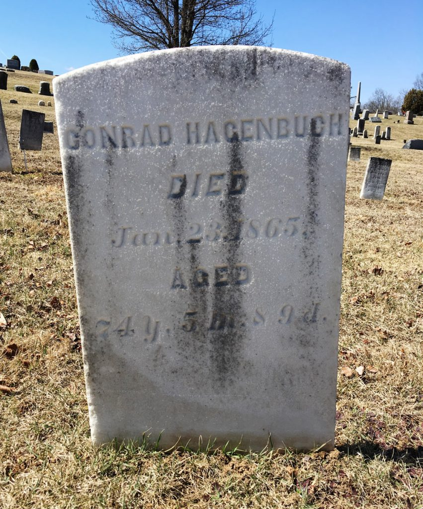 Conrad Hagenbuch Gravestone