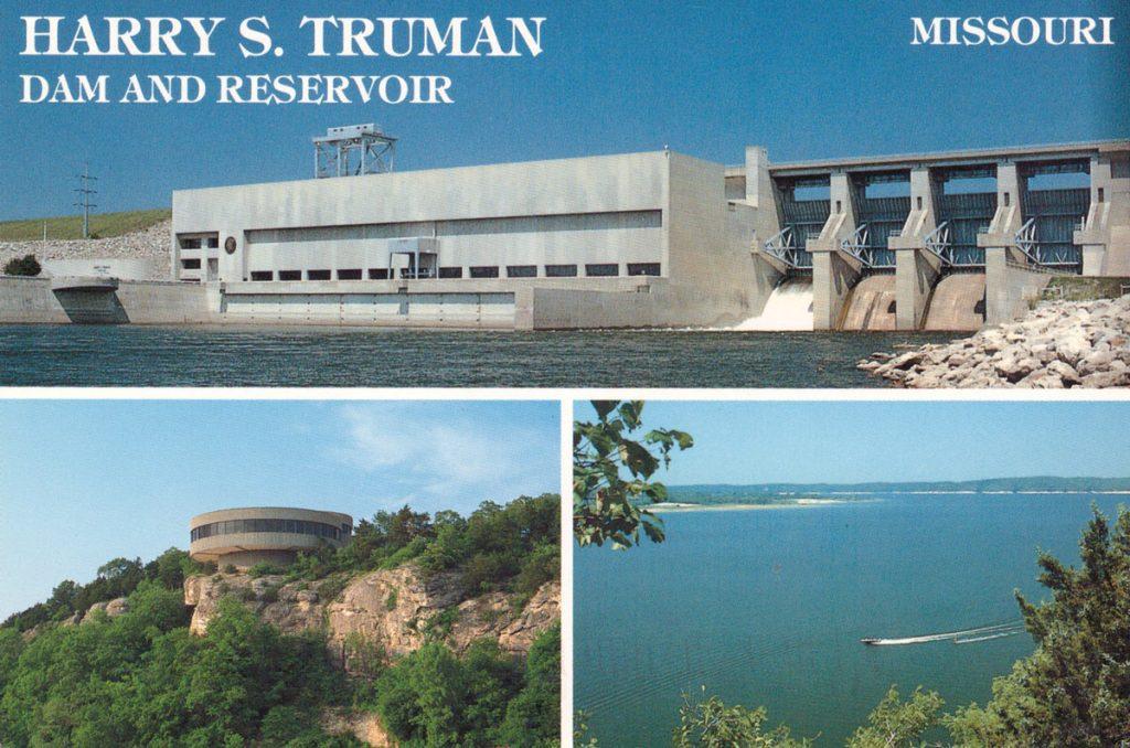 Harry S. Truman Dam and Reservoir Postcard