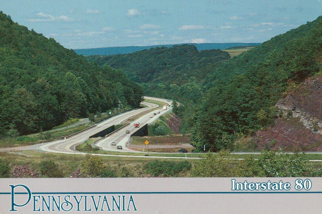 Interstate 80 Pennsylvania Postcard