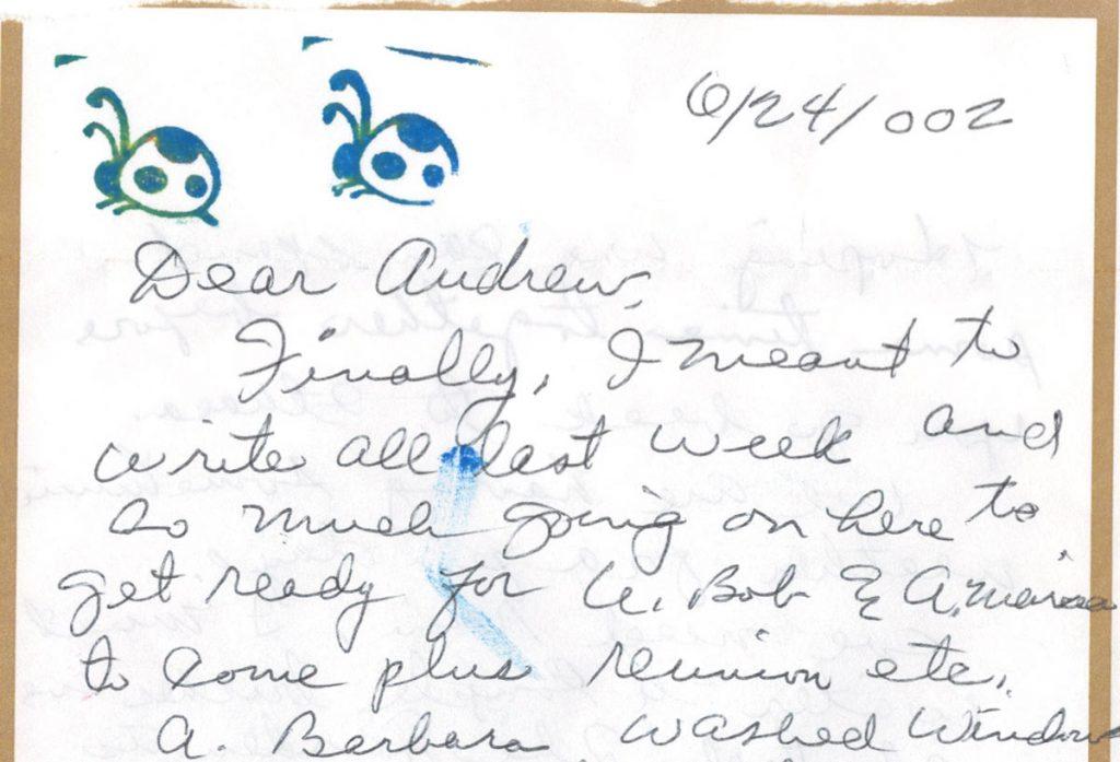Nana Letter Ladybugs 2002