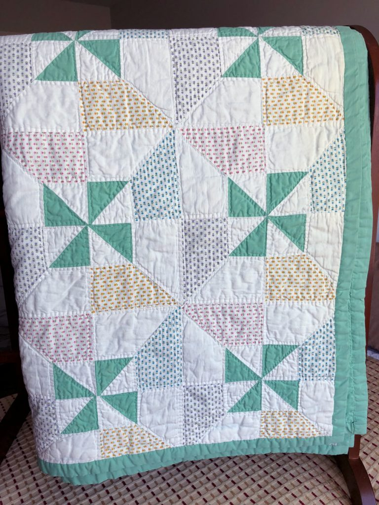 Quilt by Minnie (Keefer) Hagenbuch, Julia Catherine Hagenbuch, 1970