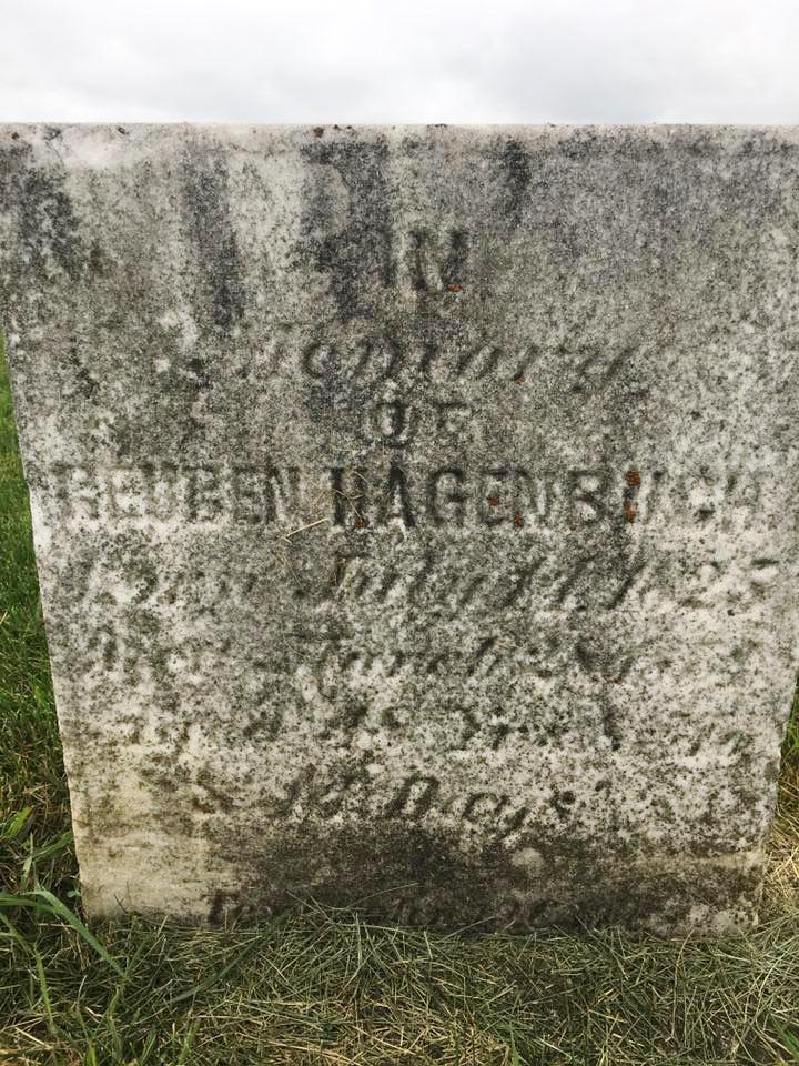Reuben Hagenbuch 1825 Gravestone