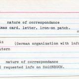 Hagenbuch correspondence cards