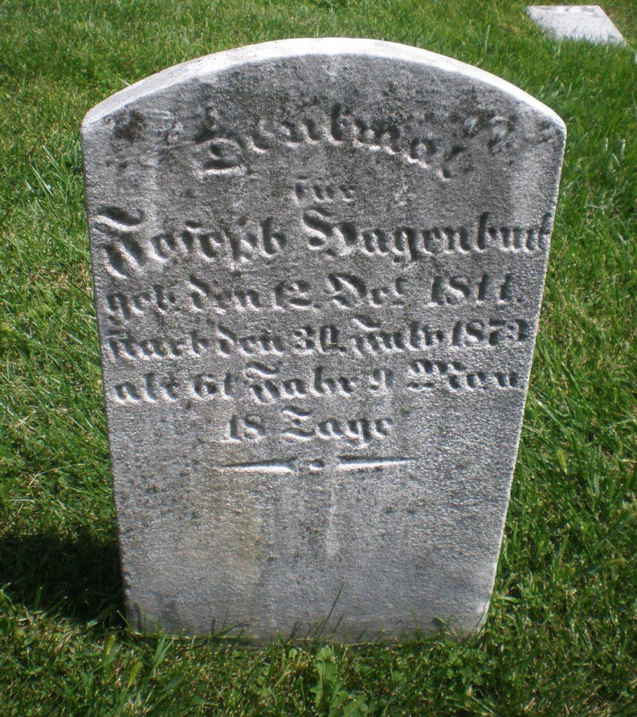 Joseph Hagenbuch 1811 gravestone