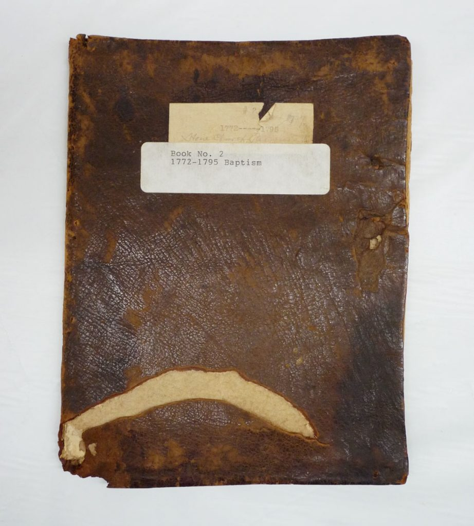 Zion Stone Church Baptism Record Book, 1772