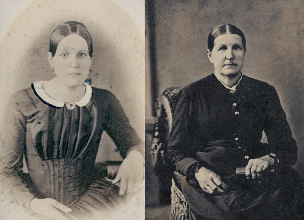Hannah (McWilliams) Davis young and old