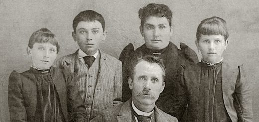 Detail of a photo of William Allen Hagenbaugh and family, c. 1893.