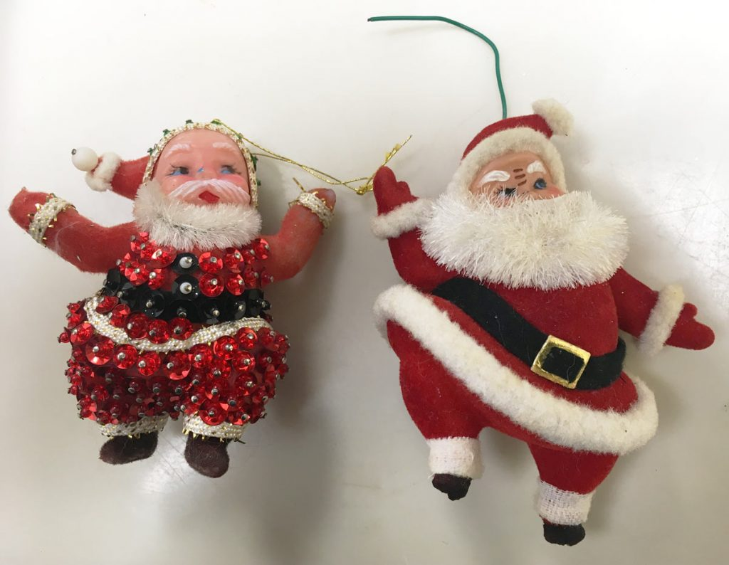 Dancing Santa Ornaments