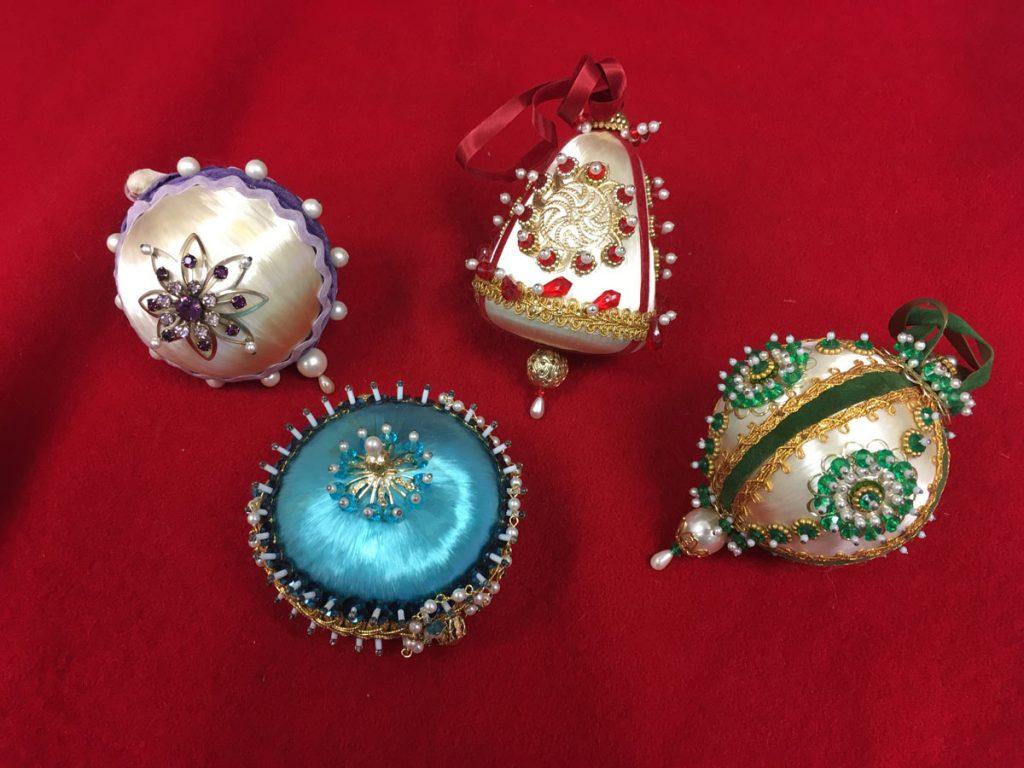 Ornaments Pin Silk Beaded
