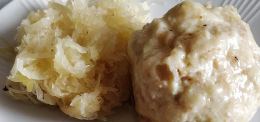 Sauerkraut and Dumpling Detail