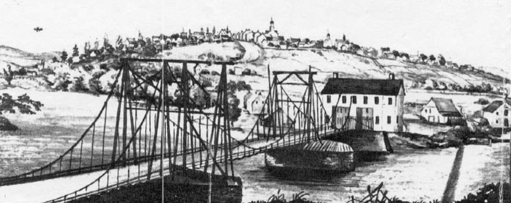 Chain Bridge Northampton Town, Allentown by Rufus Grider
