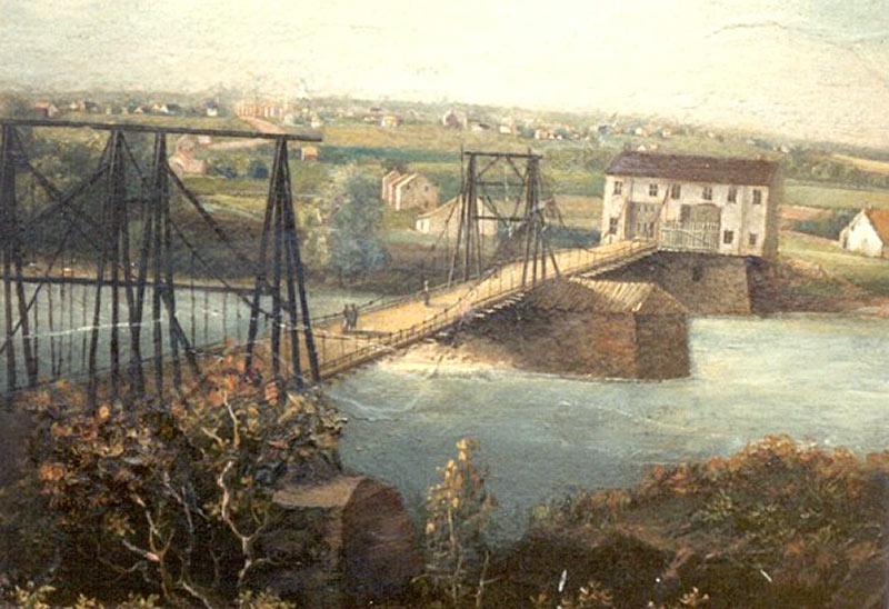 Chain Bridge Lehigh River Northampton Town, Allentown, Grunewald