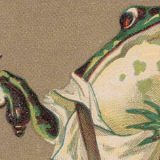 R. D. Hagenbuch Frog Duel Trade Card Detail
