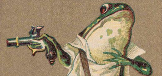 R. D. Hagenbuch Frog Duel Trade Card Detail