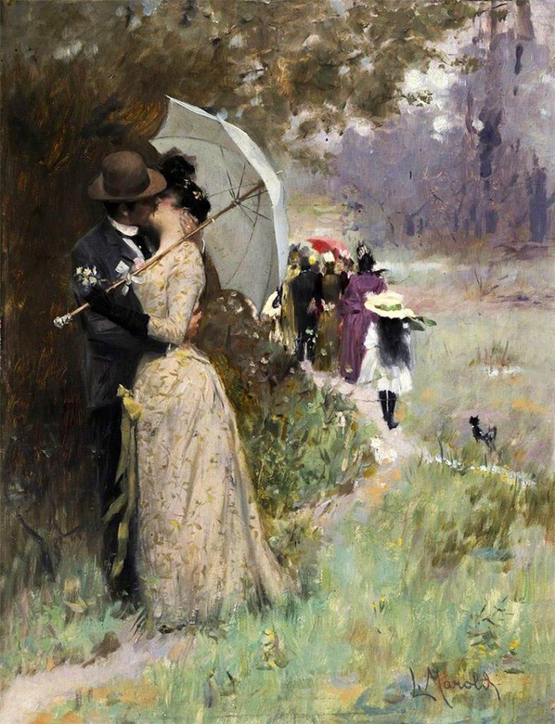Kiss Under the Parasol, Ludwig Marold
