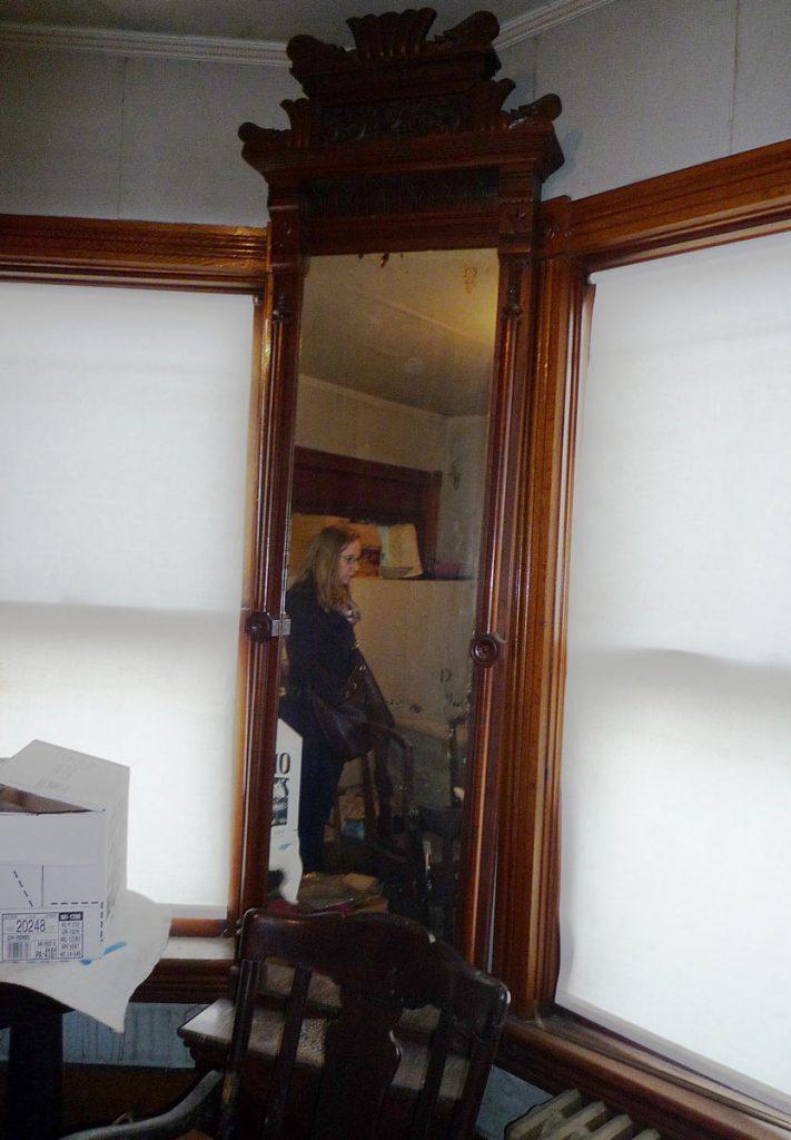 Hiram Hagenbuch Mirrored Coat Rack