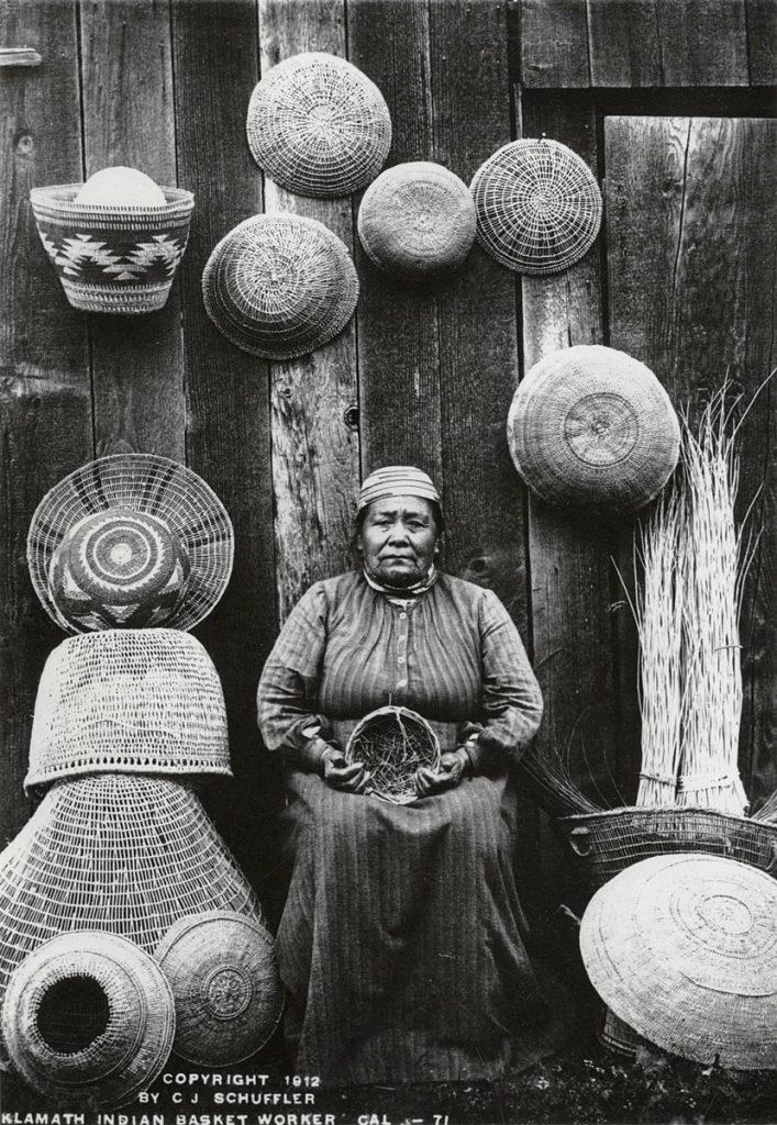 Klamath River Basket Weaver Woman