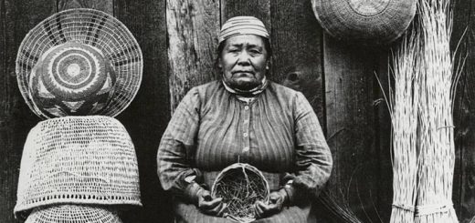 Klamath River Basket Weaver Woman Detail