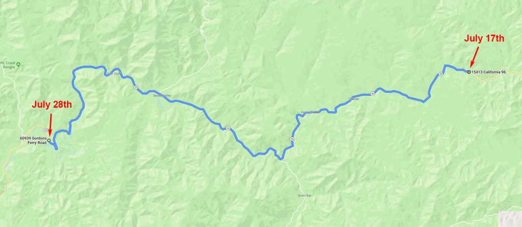 Klamath River, Hagenbuch Map, Second Leg
