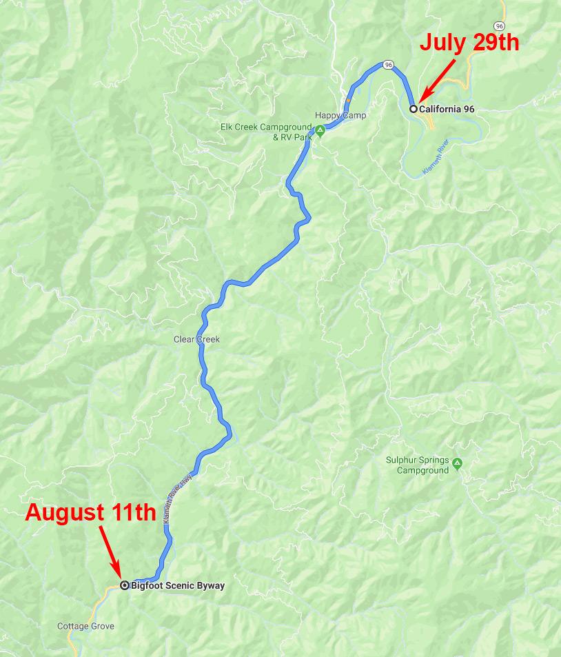Klamath River, Hagenbuch Map, Third Leg