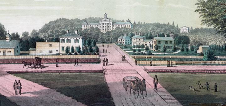 Bucknell University 1870 Detail