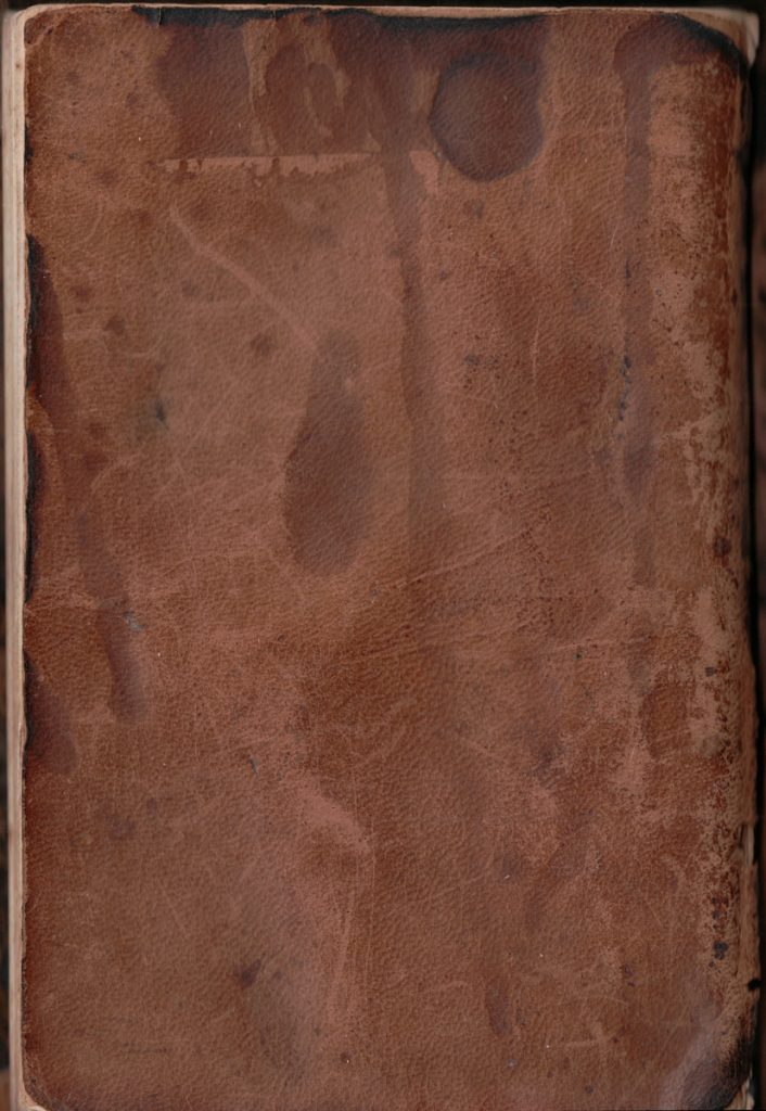 J. C. Hagenbuch Journal Back Cover, 1905