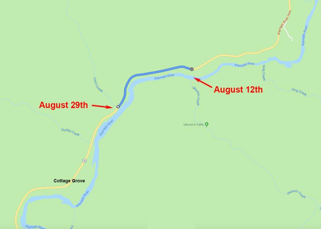 Klamath River, Hagenbuch Map, Fourth Leg