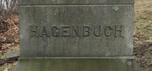 Hagenbuch Family Plot Stone in Milton Cemetery