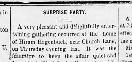Surprise Party Hiram Hagenbuch 1894 Detail