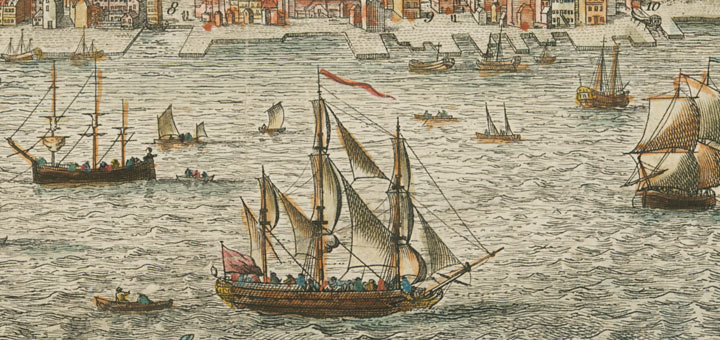 Port of Philadelphia mid-1700s