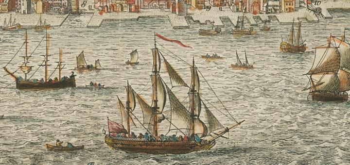 Port of Philadelphia mid-1700s