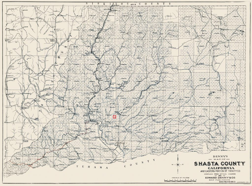 Shasta County 1904 Hagenbaugh Section
