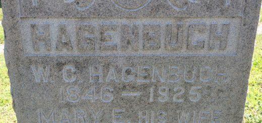 W. C. Hagenbuch Grave Detail