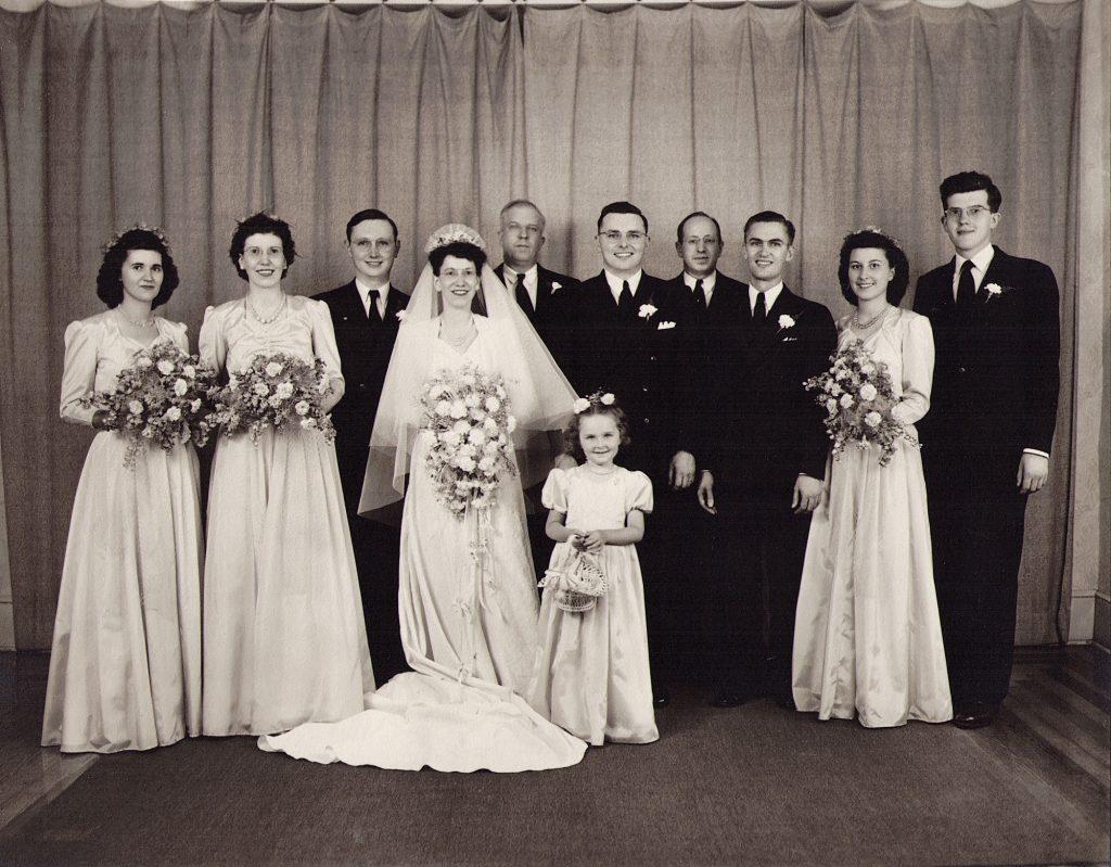 Roy Jr. and Ethel (Brandt) Gutshall Wedding, 1946