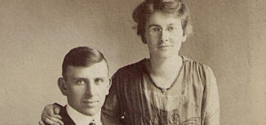 Roy and Mary Pearl Gutshall, 1918 Detail