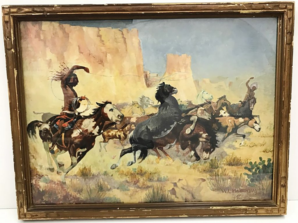 American Indian Horse Roundup William L. Hagenbaugh Painting