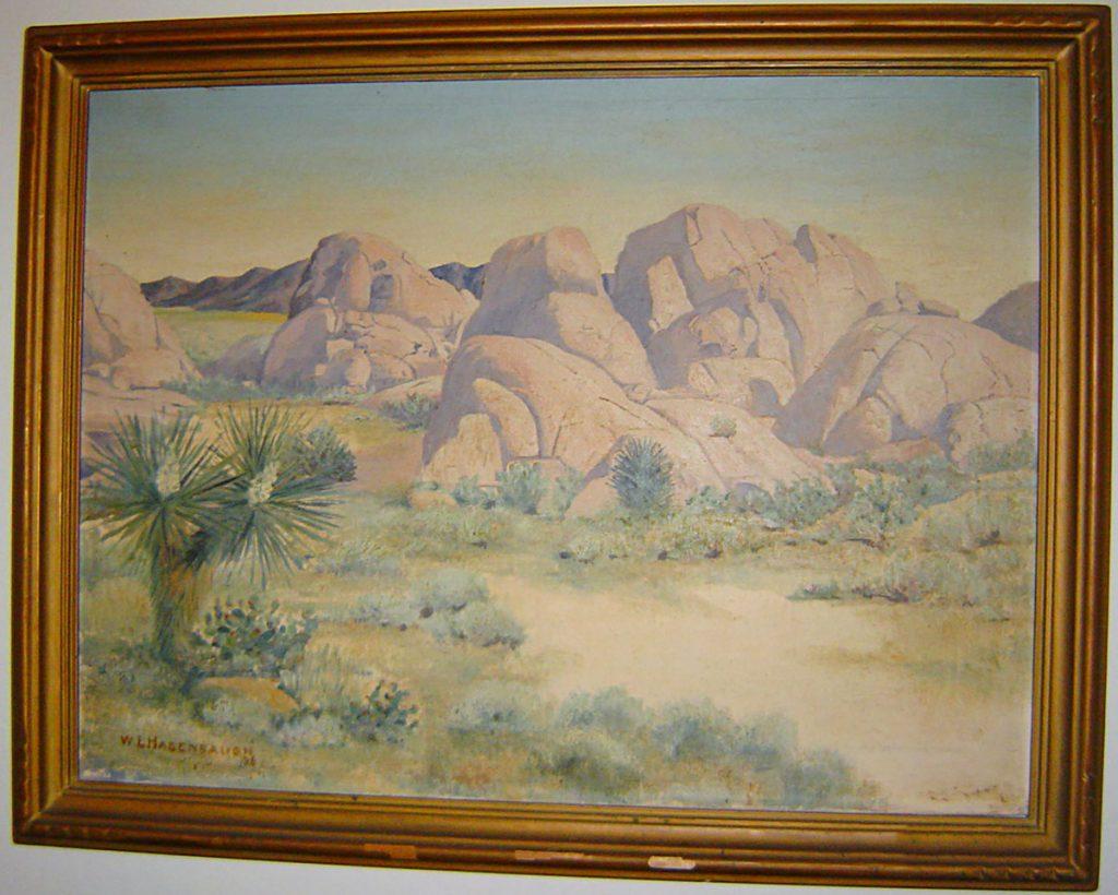 Landscape Rocks Painting William L. Hagenbaugh