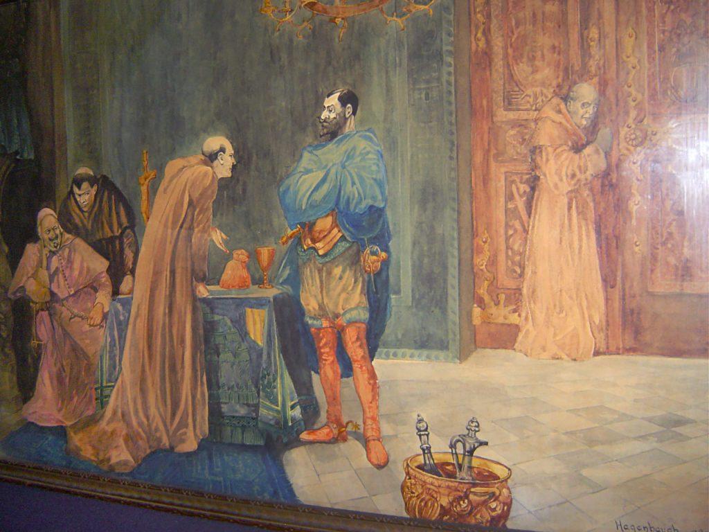 William L. Hagenbaugh Painting Church, Monks, Conquistador