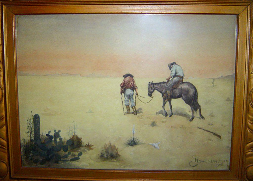 Men Horse Desert William L. Hagenbaugh Painting