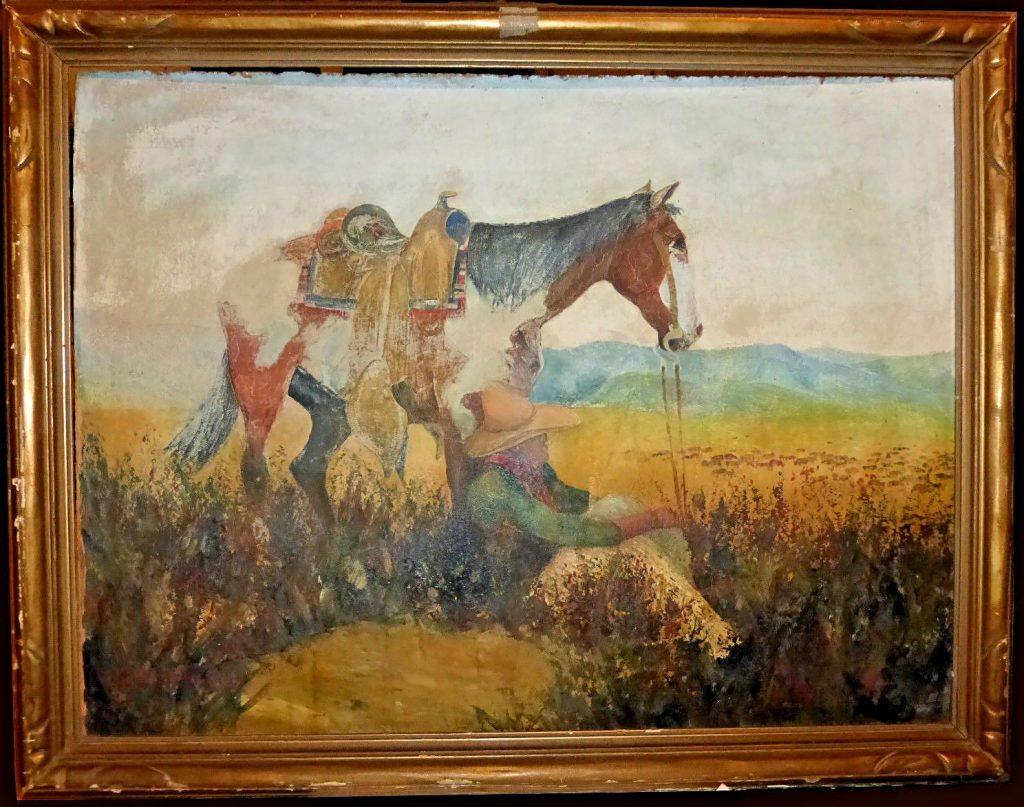William L. Hagenbaugh Painting Horse Rider