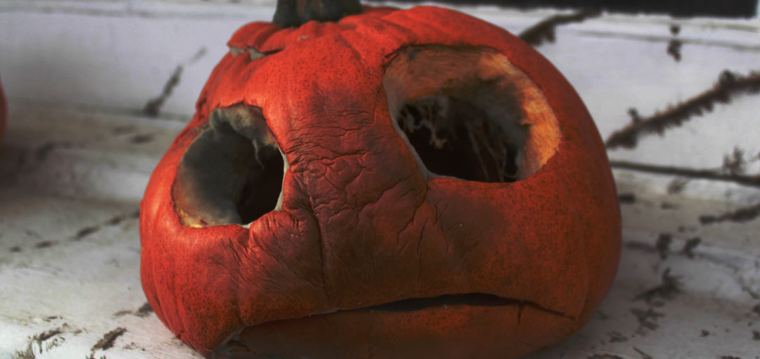 Rotten pumpkin head
