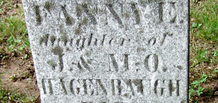 Fanny Hagenbaugh Gravestone Detail