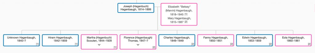 Joseph Hagenbaugh Family Tree