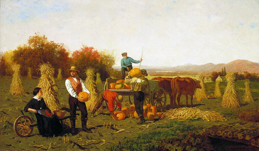 Harvest Painting John Whetten Ehninger
