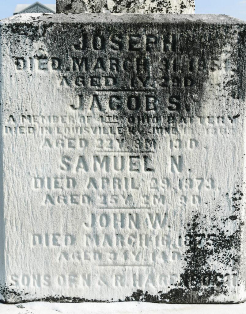 Jacob S. Hagenbuch's Gravestone