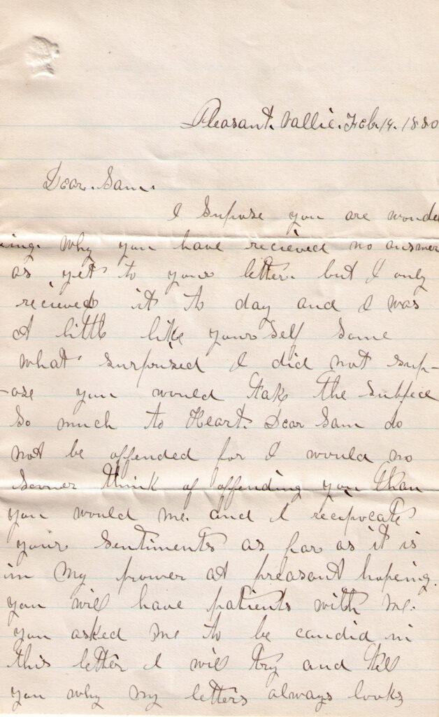 Sechler, Davis Letter Feb. 19, 1880