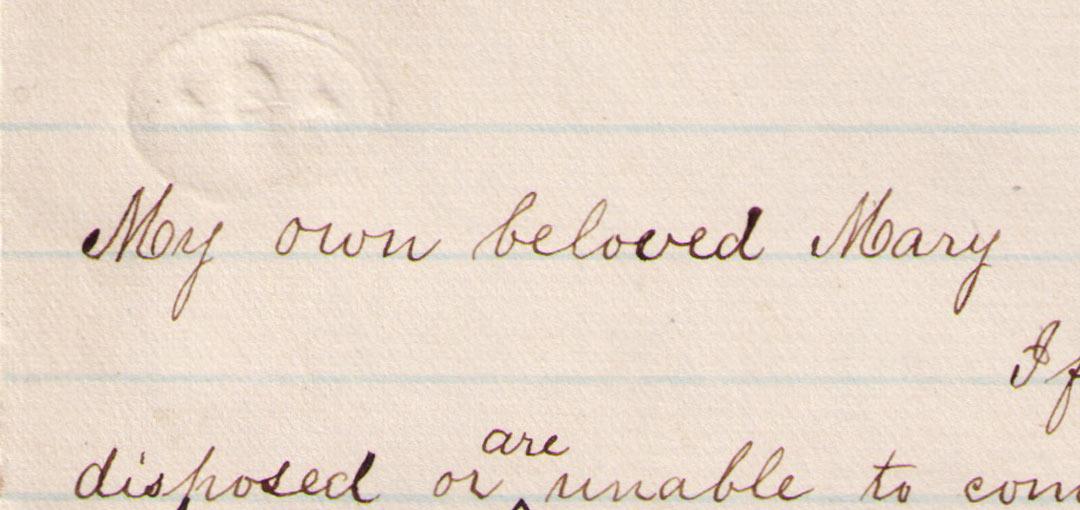 Sechler Love Letter Detail