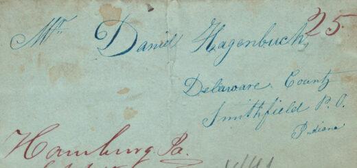 Daniel Hagenbuch Letter 1841 Detail